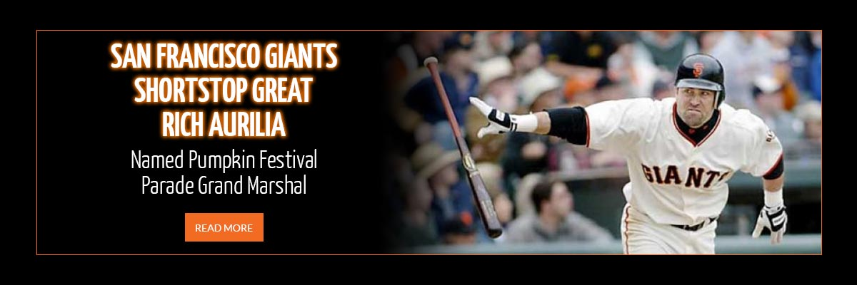 San Francisco Giants Shortstop Great Rich Aurilia Named Pumpkin Festival Parade Grand Marshal