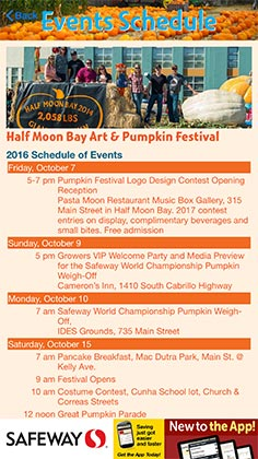 Pumpkin Festival mobile app provides the schedule of events so you don't miss a thing