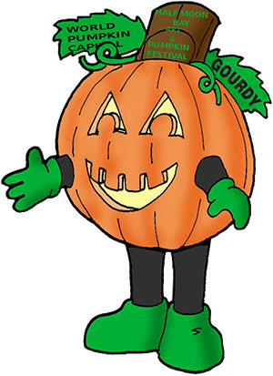 Gourdy is the New Pumpkin Festival Mascot!