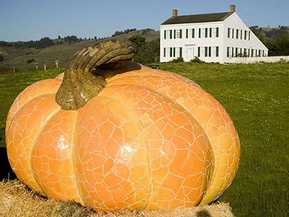 World's Biggest Pumpkin Sculpture