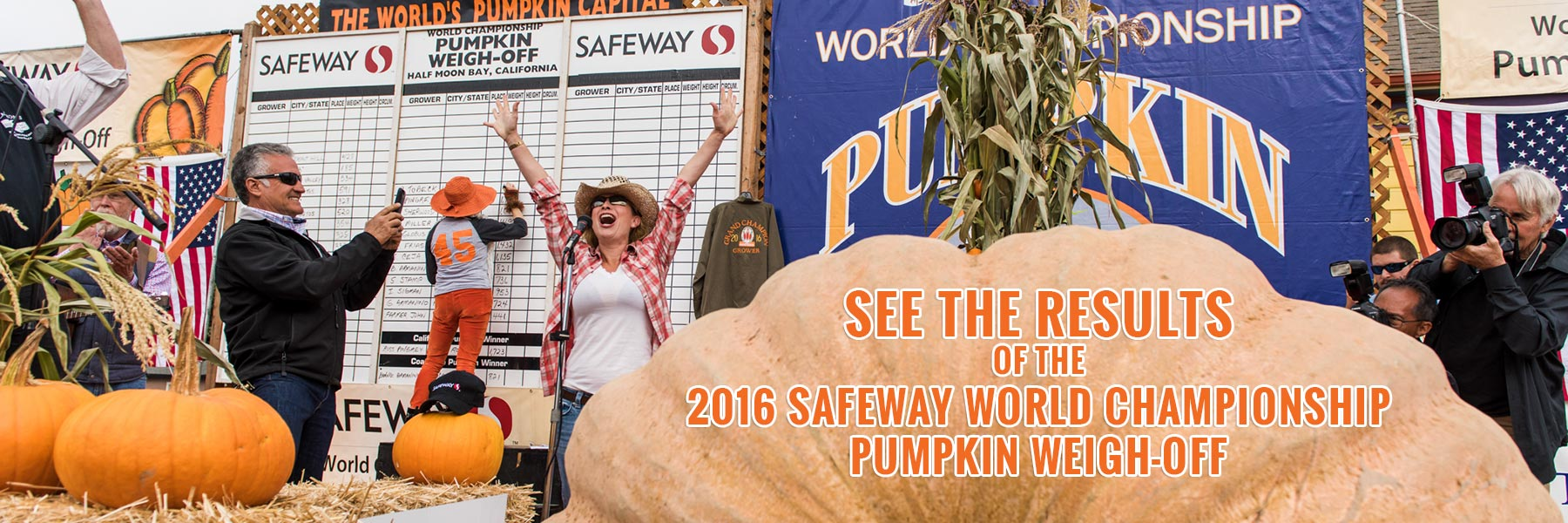 See the results of the 2016 Safeway World Championship Pumpkin Weigh-Off