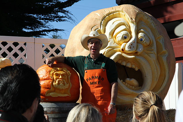 Farmer Mike, pumpkin carver