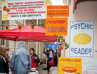 festival food and psyching reader