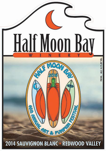 2016 festival label wine from Half Moon Bay Winery