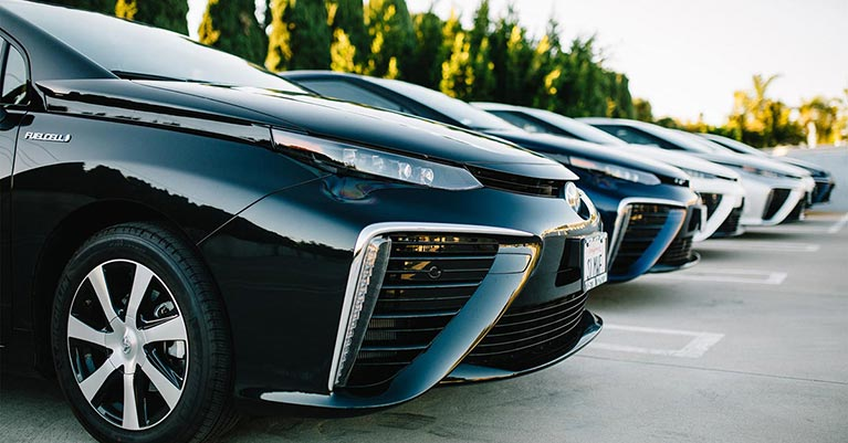 Toyota Mirai hydrogen fuel cell vehicle lineup
