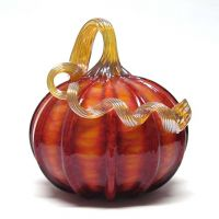 Ken and Ingrid Hanson blown glass pumpkin
