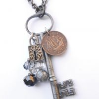 JoAnne Hunot antique key jewelry - 200 yr old English key