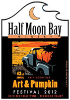 Half Moon Bay Winery 2012 Pumpkin Festival label