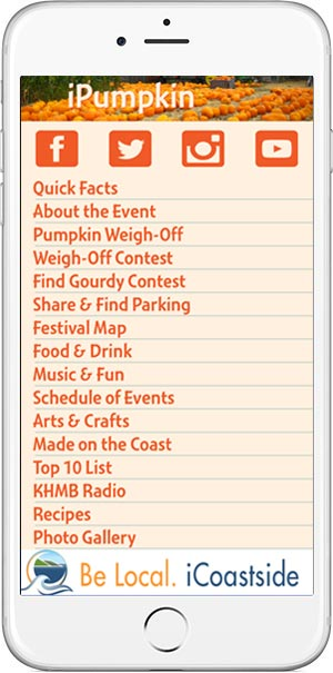 iPhone view of free Pumpkin Festival mobile app