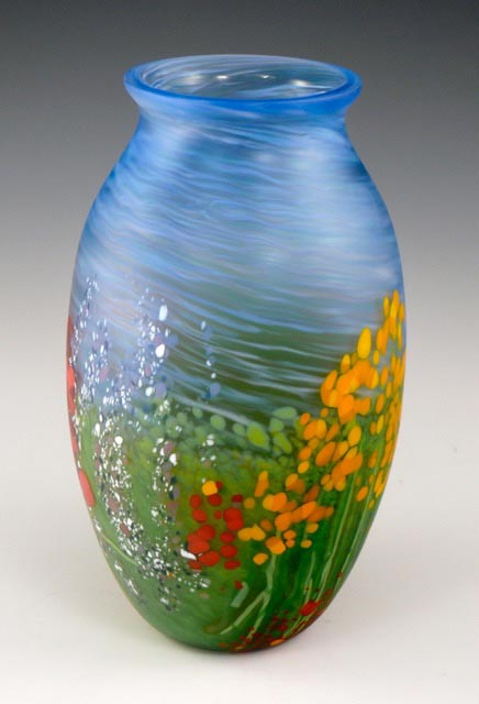 Nick Leonoff hand blown glass