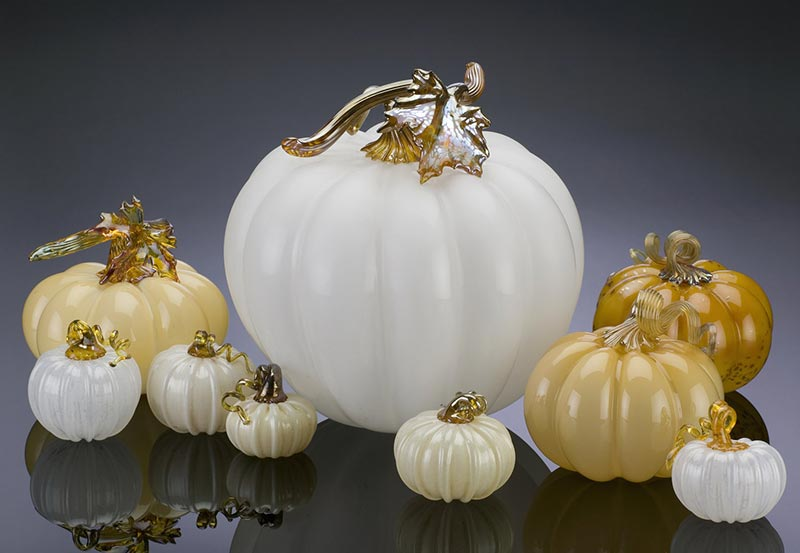 Silkwood Glass pastel pumpkins