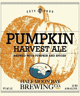 Pumpkin Harvest Ale craft beer from Half Moon Bay Brewing Company