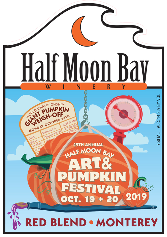 2019 Half Moon Bay Art & Pumpkin Festival Wine Label