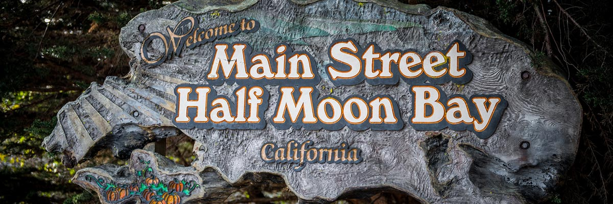 Welcome to Main Street, Half Moon Bay, California