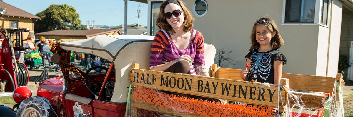 Half Moon Bay Winery in the Great Pumpkin Parade